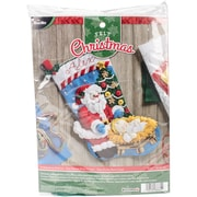 "Bucilla 18"" Long A Season To Believe Stocking Felt Applique Kit (86664)"
