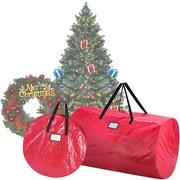 "Elf Stor Red, 9ft Tree, 30"" Wreath Tree & Wreath Storage Bag Combo (ES1016)"