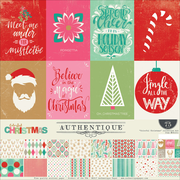 "Authentique Paper Colorful Christmas Collection Kit, 12"" x 12"" (COL011)"
