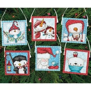 Dimensions Set Of 6 Frosty Friends Ornaments Counted Cross Stitch Kit, 16 Count (70-08940)