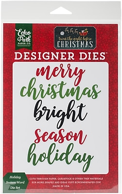 Echo Park Paper 'Twas The Night Before, Holiday Season Dies (TNC34043)