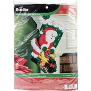 "Bucilla 18"" Long Santa And Scottie Dog Stocking Felt Applique Kit (86654)"