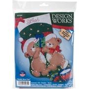 "Tobin 18"" Long Teddy Bear Fun Stocking Felt Applique Kit (DW5230)"