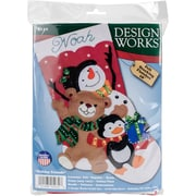 "Tobin 18"" Long Holiday Friends Stocking Felt Applique Kit (DW5232)"
