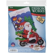 "Tobin 18"" Long Scooter Santa Stocking Felt Applique Kit (DW5239)"