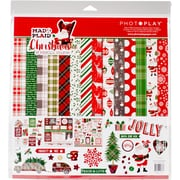 """Photo Play Paper Mad 4 Plaid Christmas Collection Pack, 12"""" x 12"""" (MPC2876N)"""