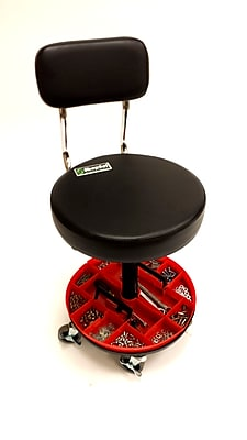 ShopSol Mechanics Stool with Back Removable Parts Tray (1010277)