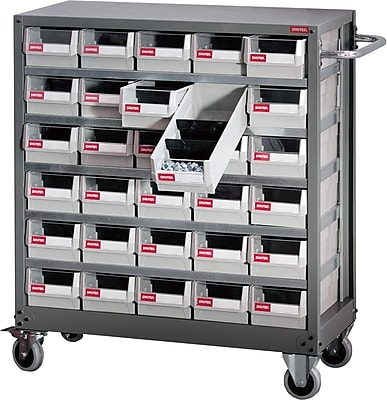Shuter Part Cabinet, Steel 30 Bin Mobile (1010016)