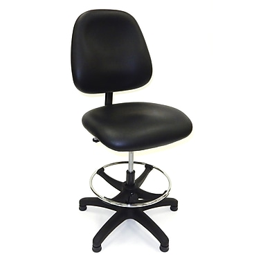 ShopSol Workbench Chair, Vinyl Seat Mid Back Seat/Back Height Adjustable (1010442)