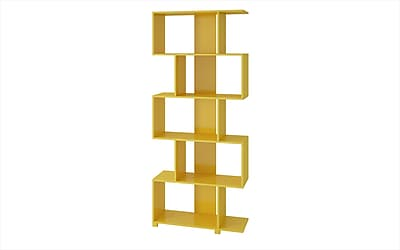 Accentuations by Manhattan Comfort Petrolina Z-Shelf with 5 Shelves, Tobacco (18AMC130)