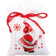 "Vervaco Set Of 3 Christmas Elves Bags On Aida Counted Cross Stitch Kit, 3.25"" x 4.75"", 18 Count (V0150688)"