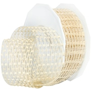 """Morex Corp Champagne Victoria Wired Ribbon, 1.5"""" x 16 yd (74940-104)"""