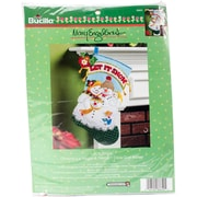 "Bucilla 18"" Long Mary Engelbreit Let It Snow Stocking Felt Applique Kit (86650)"