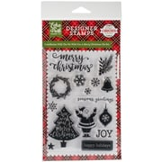 """Echo Park Paper We Wish You A Merry Christmas Stamps, 4"""" x 6"""" (PC135044)"""