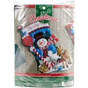 "Bucilla 18"" Long Santa Stop Here Stocking Felt Applique Kit (86707)"