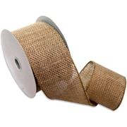 "Morex Corp Natural Burlap Wired Ribbon, 2.5"" x 10 yd (125260-4)"