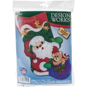 "Tobin 18"" Long Starlight Santa Stocking Felt Applique Kit (DW5248)"
