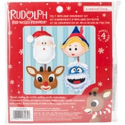 Dimensions Set Of 4 Rudolph The Red-Nosed Reindeer Ornaments Felt Applique Kit (72-08285)