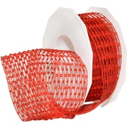 "Morex Corp Red Victoria Wired Ribbon, 1.5"" x 16 yd (74940-609)"