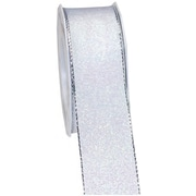 "Morex Corp White Himalaya Wired Ribbon, 1.5"" x 22 yd (22140)"