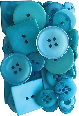 Button Up! Teal For Two Party Pack Buttons (JABC55-10)