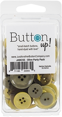 Button Up! Olive Party Pack Buttons (JABC55-31)