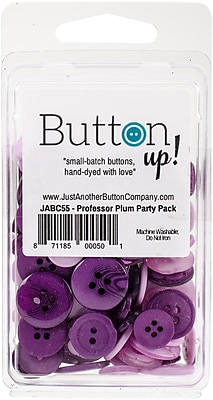 Button Up! Professor Plum Party Pack Buttons (JABC55-15)