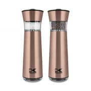 Kalorik Easygrind Electric Gravity Salt and Pepper Grinder Set, Copper (PPG 43639 CP)