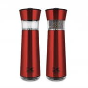Kalorik Easygrind Electric Gravity Salt and Pepper Grinder Set, Red (PPG 43639 R)