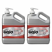GOJO Gel Pumice Hand Cleaner, Cherry Fragrance, 1 Gallon Hand Cleaner with Pumice Pump Bottle, 2/Pack (2358-02)