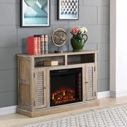 Southern Enterprises Antebellum Electric Fireplace TV Stand, Burnt Oak (FE9335)