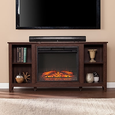Southern Enterprises Parkdale Electric Fireplace TV Stand, Espresso (FP9692)