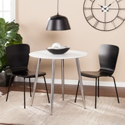 Southern Enterprises Marden Multifunctional Round Dining/Game Table, White (DN0670)