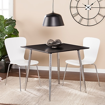 Southern Enterprises Kelwyn Square Small Space Dining/Game Table, Black (DN0660)