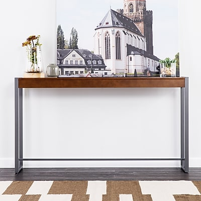 Southern Enterprises Holly & Martin Macen Console, Dark Tobacco with Gunmetal (CM9912)