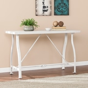 Southern Enterprises Jacinto Farmhouse Style Console Table, Distressed White (CM1054)