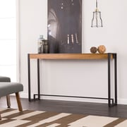 Southern Enterprises Holly & Martin Macen Console, Weathered Gray Oak with Black (CM9913)