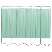 Omnimed Privacy Screen with 5 Green Panels (153055-15)