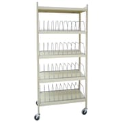 Omnimed Vertical Chart Rack, 40 Capacity, Light Grey (260004)