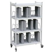 "Omnimed 35"" Standard 30 Cap Vertical Chart File Cart Steel In Light Grey (260003)"