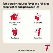 Tylenol Extra Strength Caplets, Fever Reducer and Pain Reliever, 500 mg, 100 Count (931218)