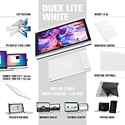 """Mobile Pixels DUEX Lite 12.5"""" LCD Monitor, Cool White (101-1005P02)"""