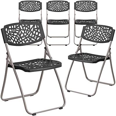 Flash Furniture Black Plastic Folding Chair 5pack(5RUTNC598ABK)