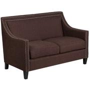 "Flash Furniture 32.5"" Fabric Loveseat Brown(CHUS1730302BN)"