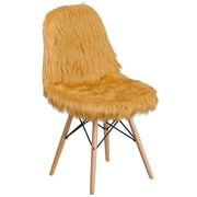 Flash Furniture Faux Fur Beige Shaggy Chair (4DL17)