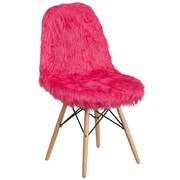 Flash Furniture Faux Fur Hot Pink Shaggy Chair (4DL1)