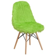 Flash Furniture Faux Fur Fluorescent Green Shaggy Chair (4DL3)