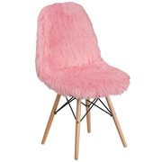 Flash Furniture Faux Fur Light Pink Shaggy Chair (4DL8)