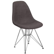 Flash Furniture Gray Fabric Chair/Chrome (2FH130CCV1FC100)