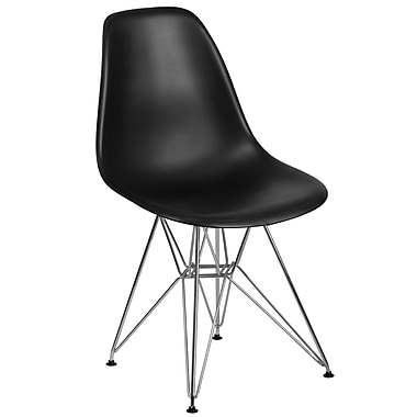 Flash Furniture Plastic Chair 2 (2FH130CPP1BK)